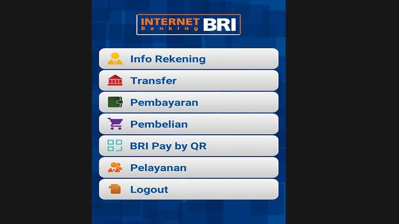 login internet banking - Fasilitas IB BRI