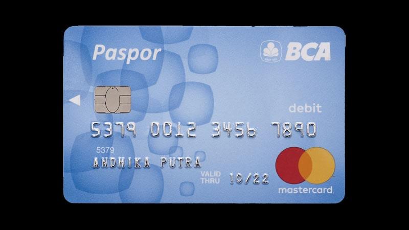 Jenis Kartu ATM BCA - Paspor Mastercard Blue