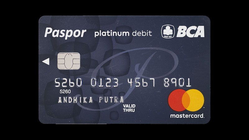 Jenis Kartu ATM BCA - Paspor Mastercard Platinum