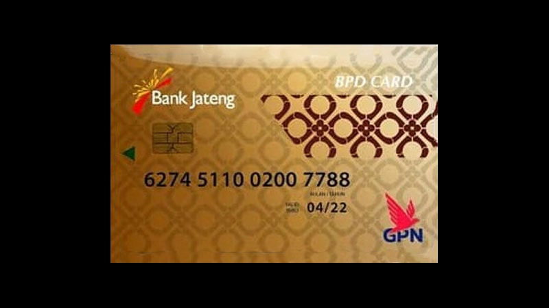 Jenis Kartu ATM Bank Jateng - BPD Card Gold