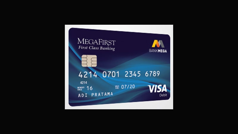 Jenis Kartu ATM Bank Mega - MegaFirst