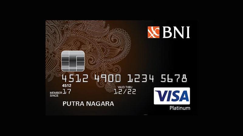 Jenis Kartu Kredit BNI - Visa Platinum