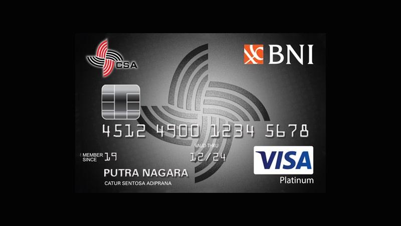Jenis Kartu Kredit BNI - CSA