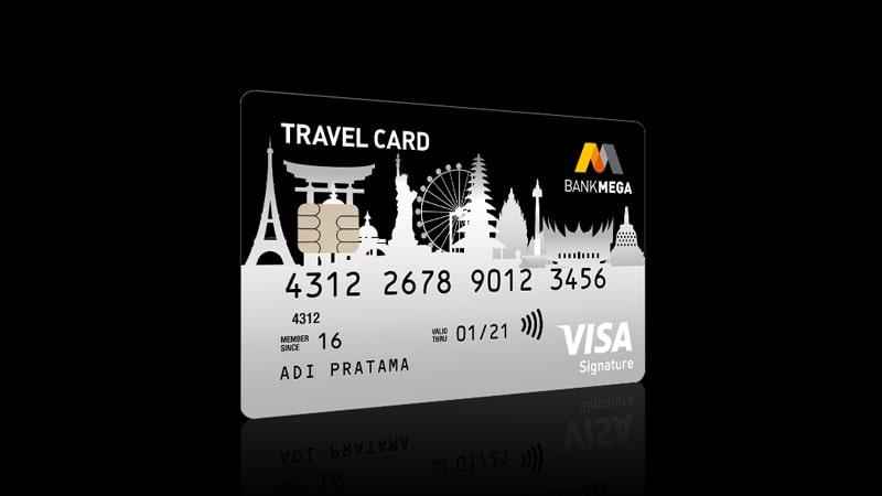Jenis Kartu Kredit Bank Mega - Mega Travel Card